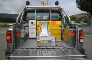 veicolo allestito con campana di tonneggio